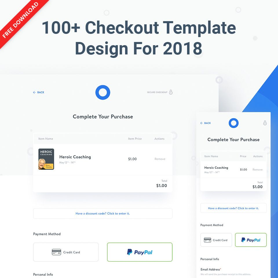Freepsdhtml 100 Best Examples Of Checkout Template Design For 2018 Template Design Templates Design