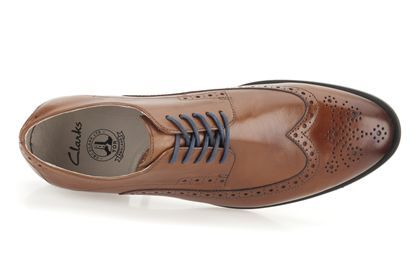 Mens Formal Shoes - Gatley Limit in Tan Leather from Clarks shoes
