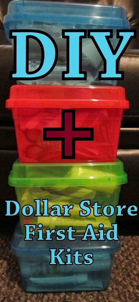 How to make your own Complete First Aid Kits at a fraction of the cost! DIY Dollar Store First Aid Kit #SurvivalFirst-AidKit