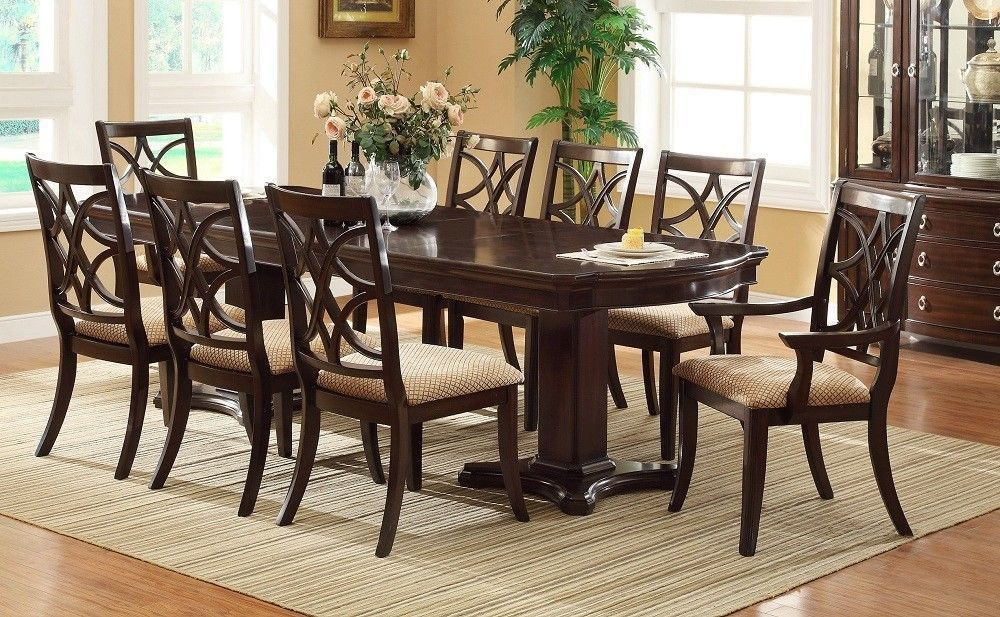 12 Pc Furniture Katelyn Formal Dining Set Table W 10 Chairs And