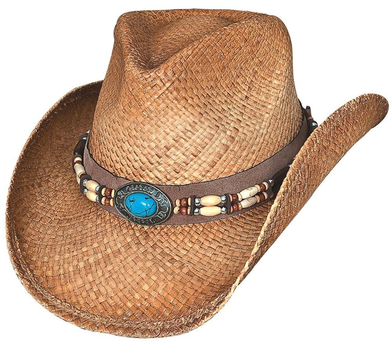 af34e2b694e Montecarlo Bullhide Hats Forbidden Treasure Western Raffia Straw Cowboy Hat  - CB11KW59AO1 - Hats   Caps