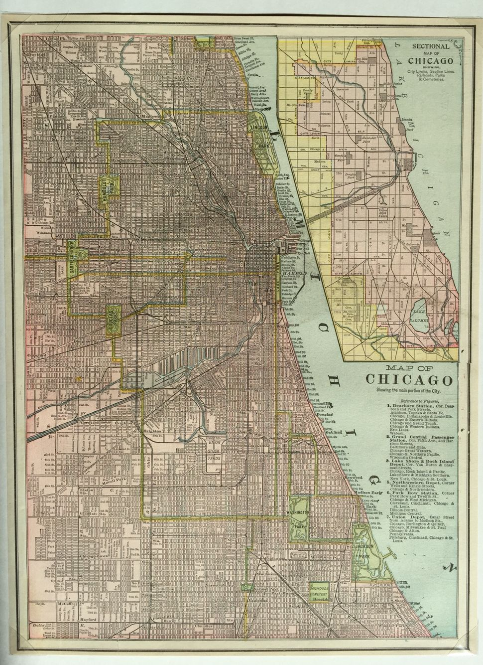 Map of Chicago 1905 | Blocki - History | Chicago map, United states Chicago City Limits Map on