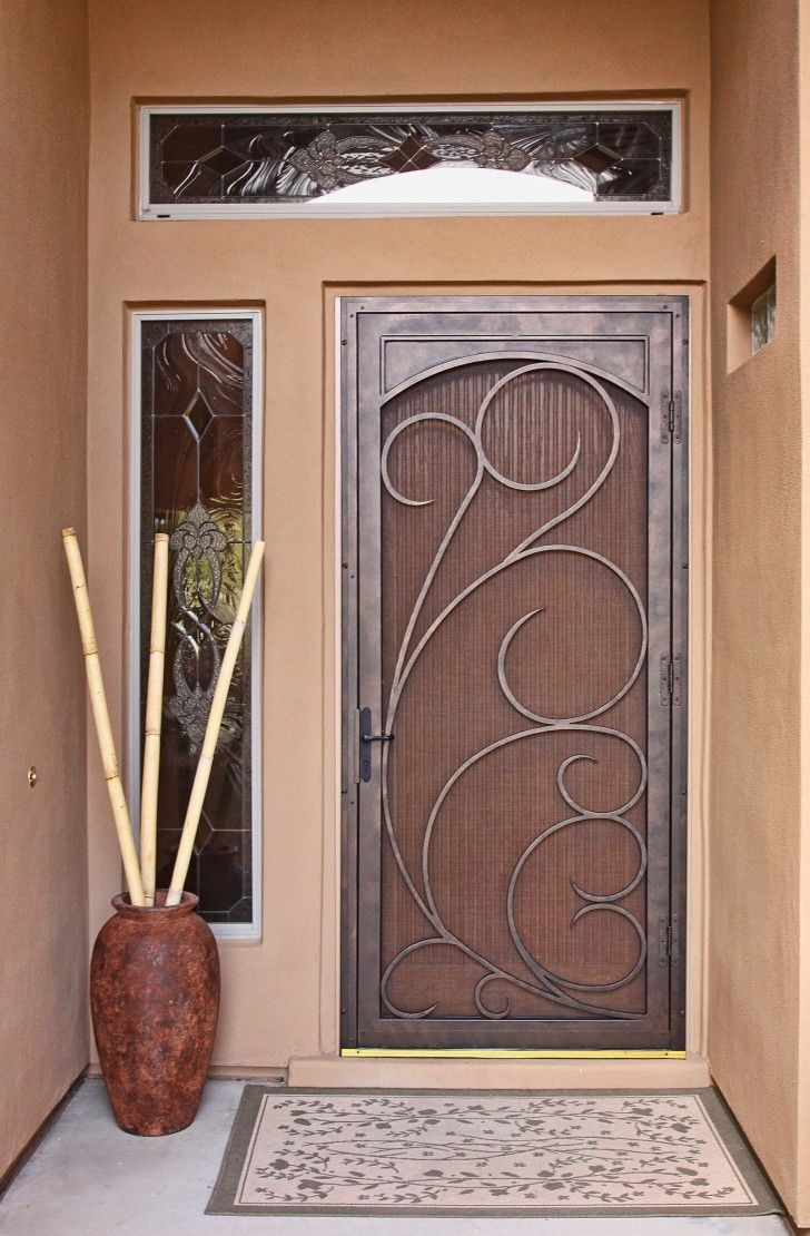 Home Apartment A Security Door With Single Sidelight Feature