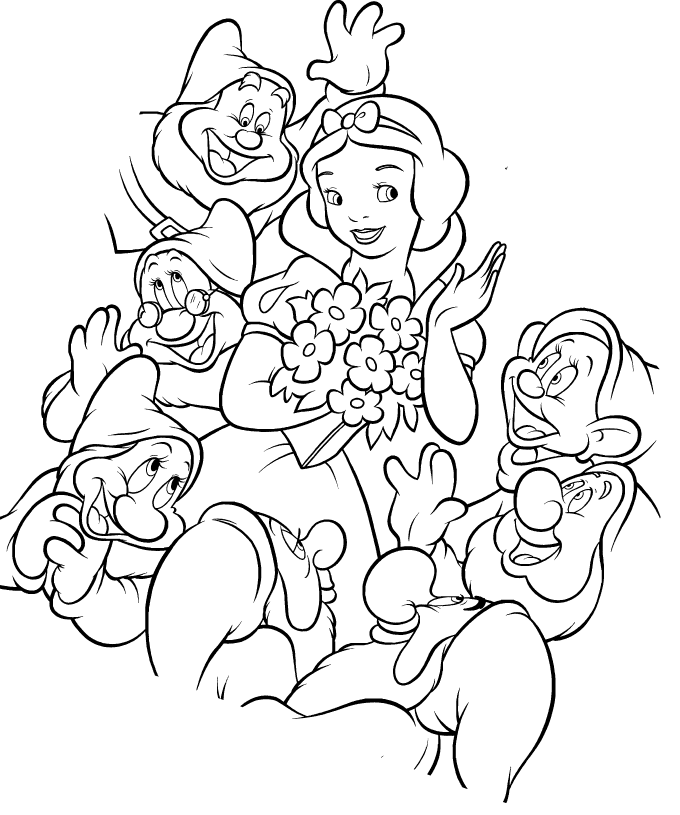 snow white coloring pages - 680×815