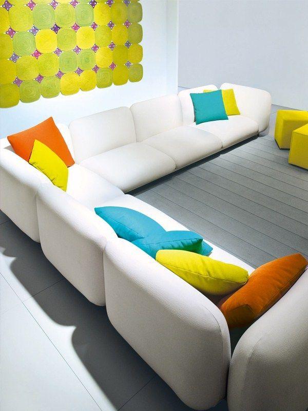 3 seater #garden #sofa with removable cover MELLOW Aqua Collection ...