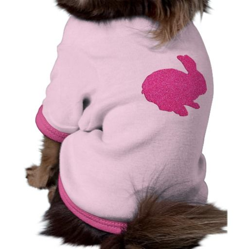 Pink Glitter Silhouette Easter Bunny Dog Shirt http://www.zazzle.com/pink_glitter_silhouette_easter_bunny_dog_shirt-155494775037210225?rf=238271513374472230  #easter