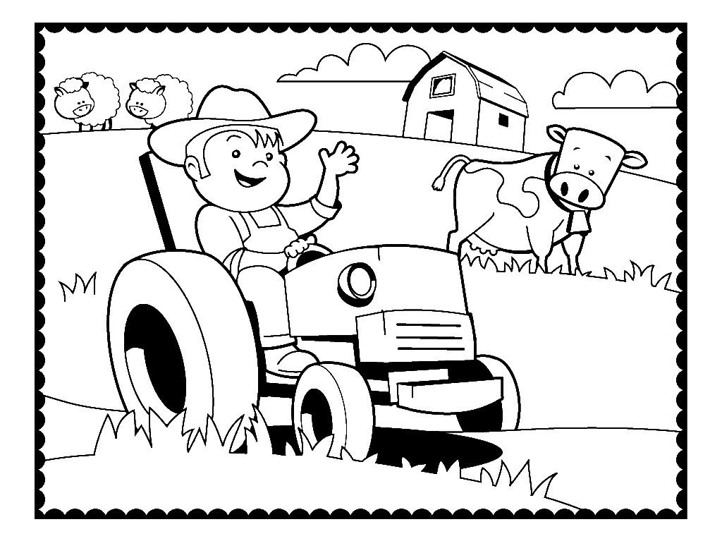 Farm Coloring Pages Best Coloring Pages For Kids Tractor Coloring Pages Farm Coloring Pages Farm Animal Coloring Pages
