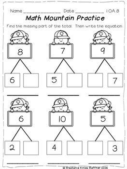 Math Mountain Print And Go Practice Pages Digital Kindergarten Math First Grade Math Kindergarten Math Activities