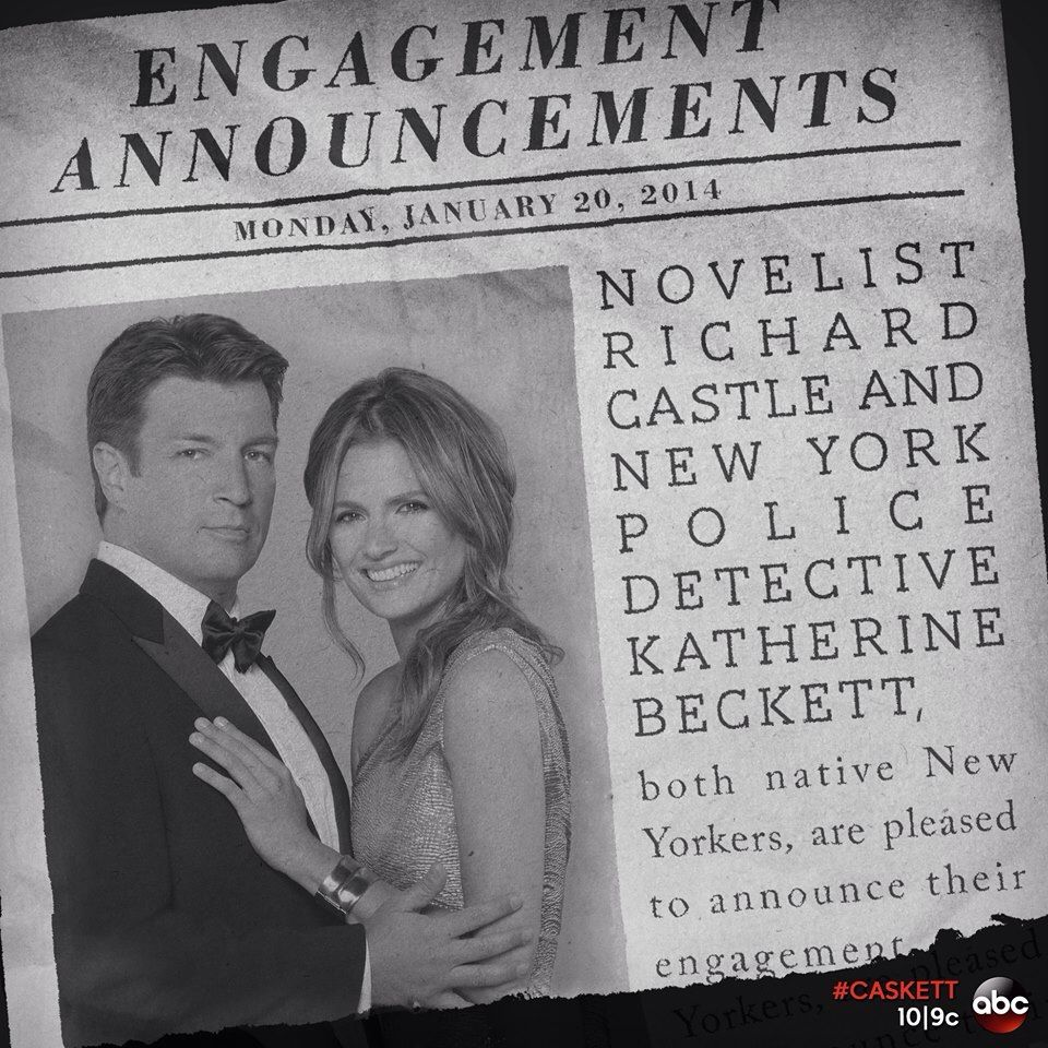 Newspaper Wedding Announcement: Castle And Beckett's Newspaper Wedding Announcement From