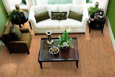 Superior Basement Flooring · Living Room With Cork Flooring Nice Ideas