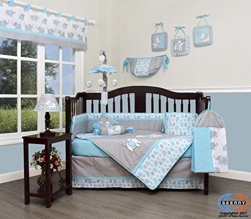Geenny Boutique Baby 13 Piece Nursery Crib Bedding Set Blizzard
