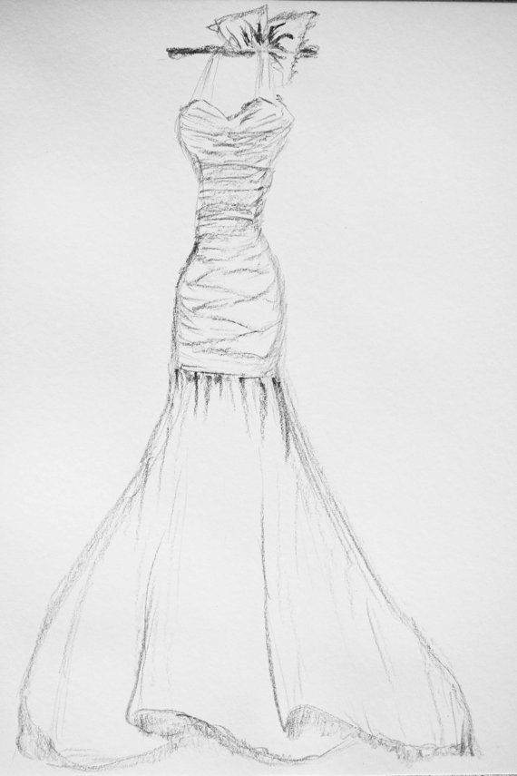 Wedding Illustration Custom Wedding Sketch First Year Paper Anniversary Gift Wedding Gift Hand Drawn Bridal Illustration Dress Sketch Wedding Dress Drawings Custom Wedding Dress Sketch Wedding Dress Sketches