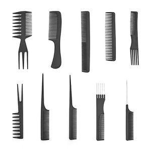 10 Pcs Salon Pro Beauty Combs Hairdressing Hair Styling Plastic Barbers Set Hairdresser Hair Styles Hair Salon