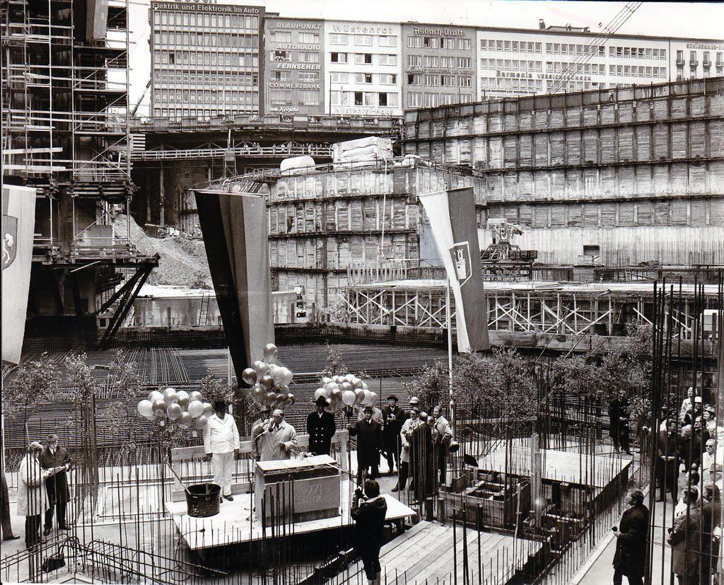 juni 1972 grundsteinlegung f r die u bahn station kr pcke a l t e s h a n n o v e r. Black Bedroom Furniture Sets. Home Design Ideas