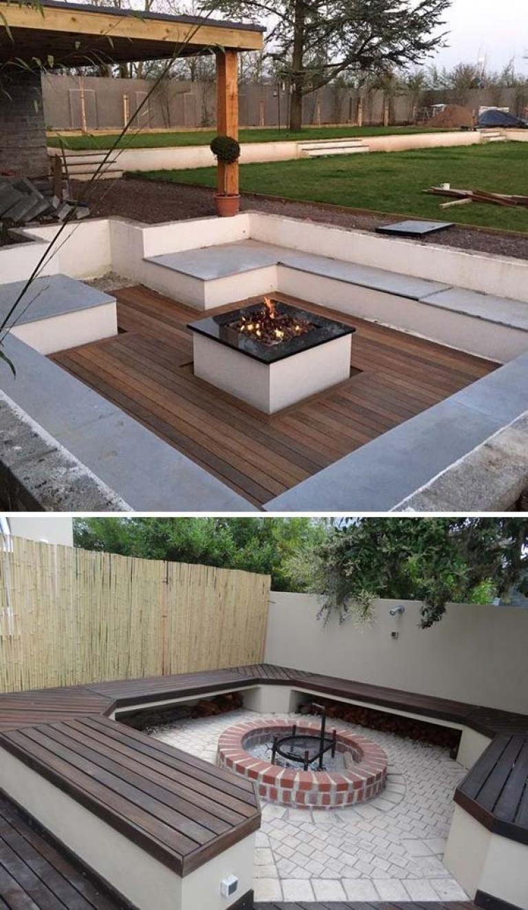 Sunken Fire Pit Ideas