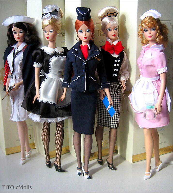 Career: Nurse, French Maid, Stewardess, Teacher, Waitress.