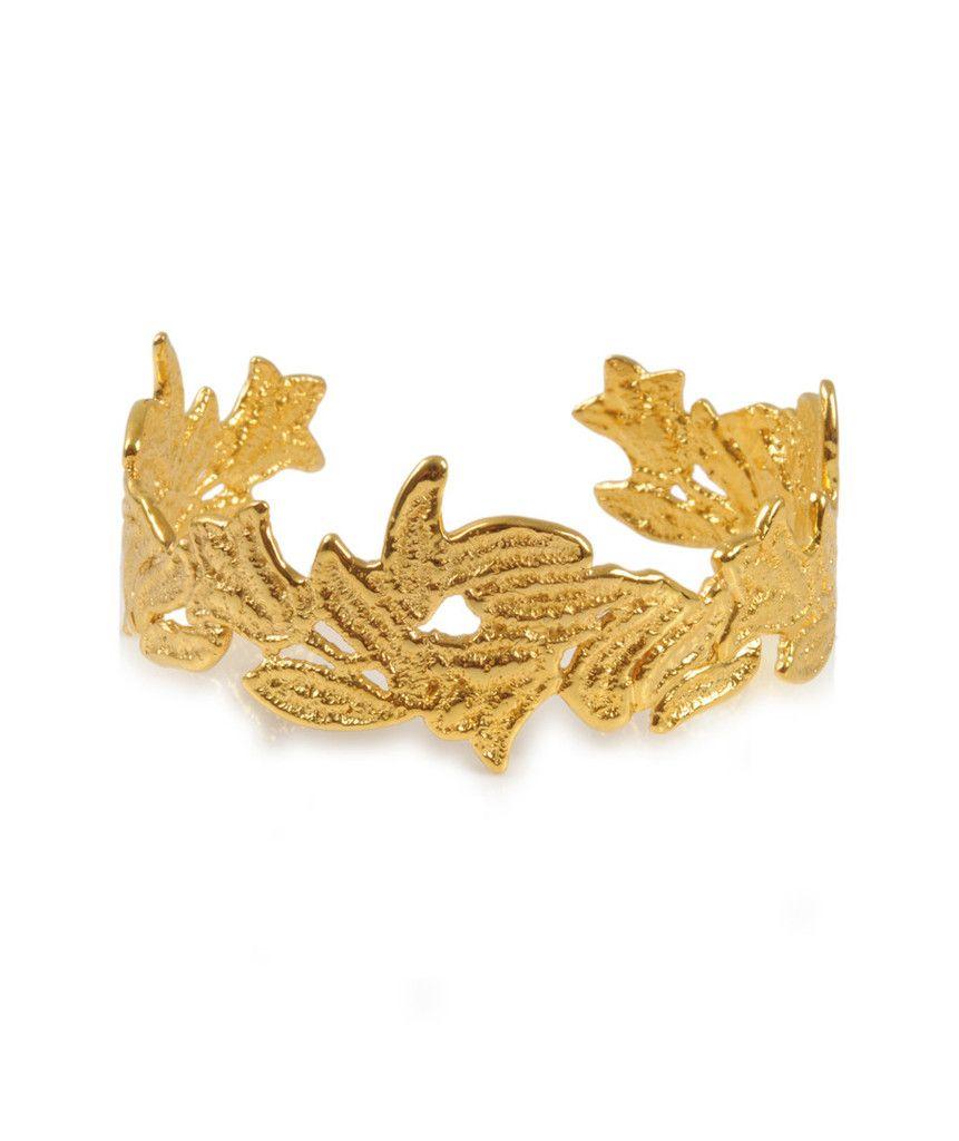 Gold medium lace bracelet