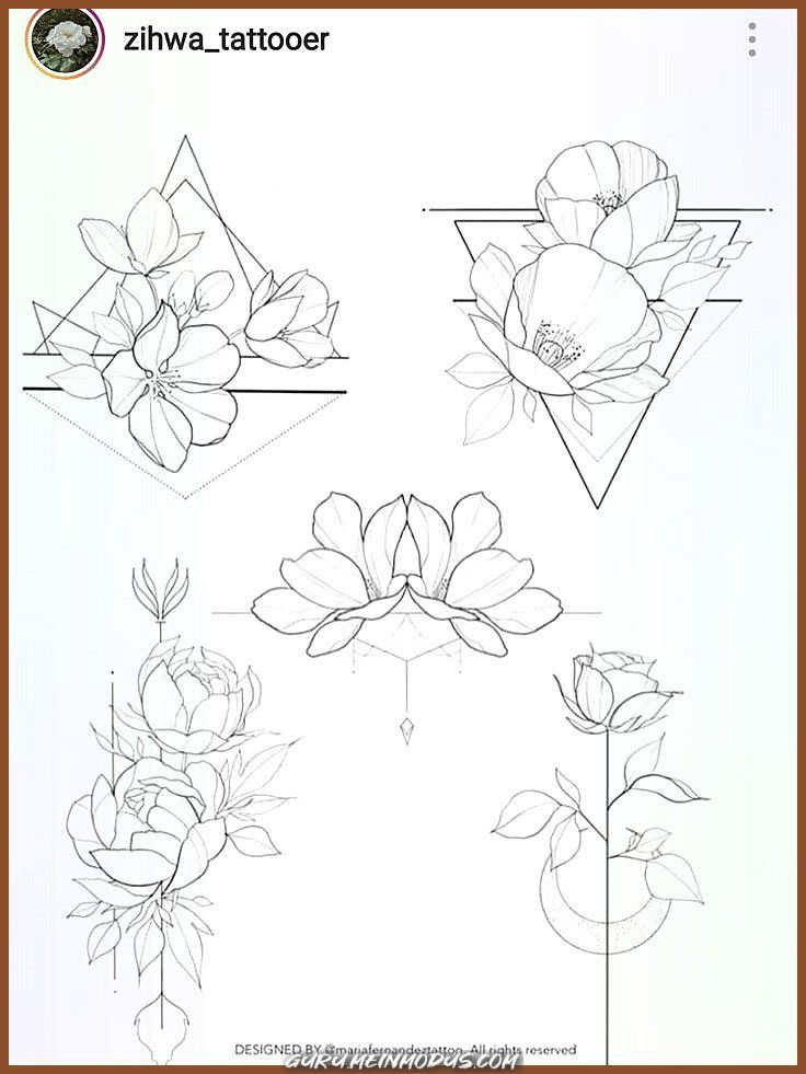Great Flowers  Geometric  Cherry Blossoms Geometric Great Flowers  Geometric  Cherry Blossoms geometric