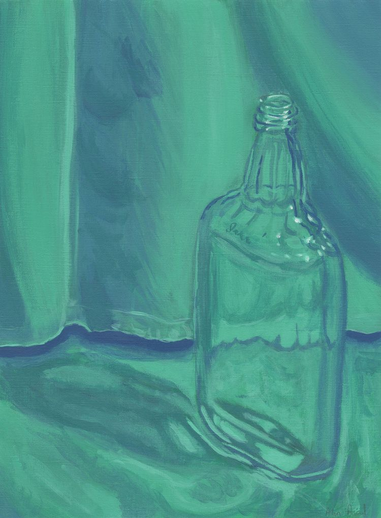 Bottle in Blue and Green