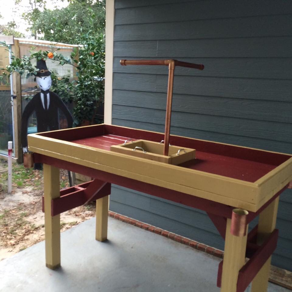 Table With Drink Trough Crawfish Table Great Idea Ideas For The Home Pinterest
