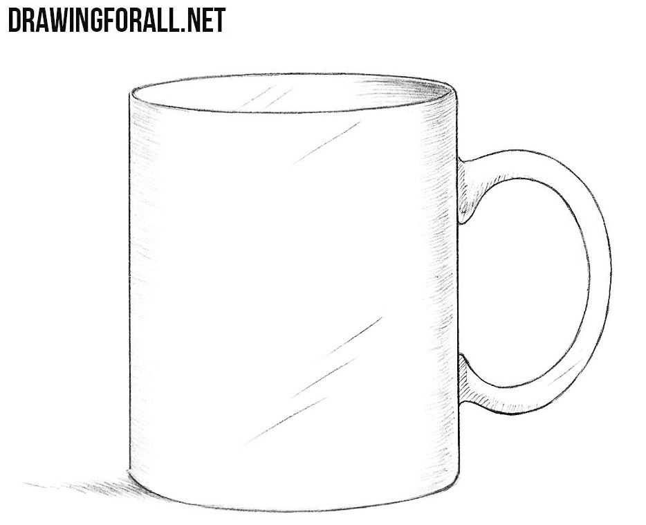 How To Draw A Mug Step By Step With Images Mug Drawing Mugs