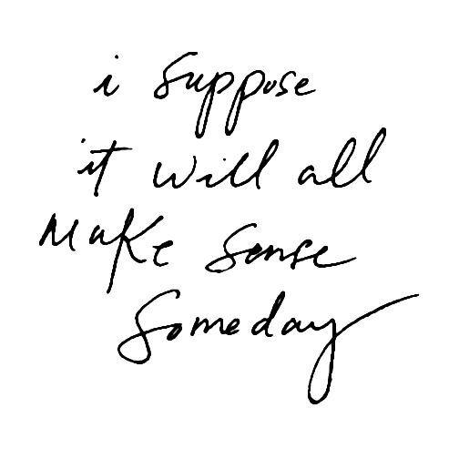 I Suppose