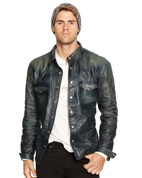 ralph lauren western | Lederjacke, Jacken und Shirts