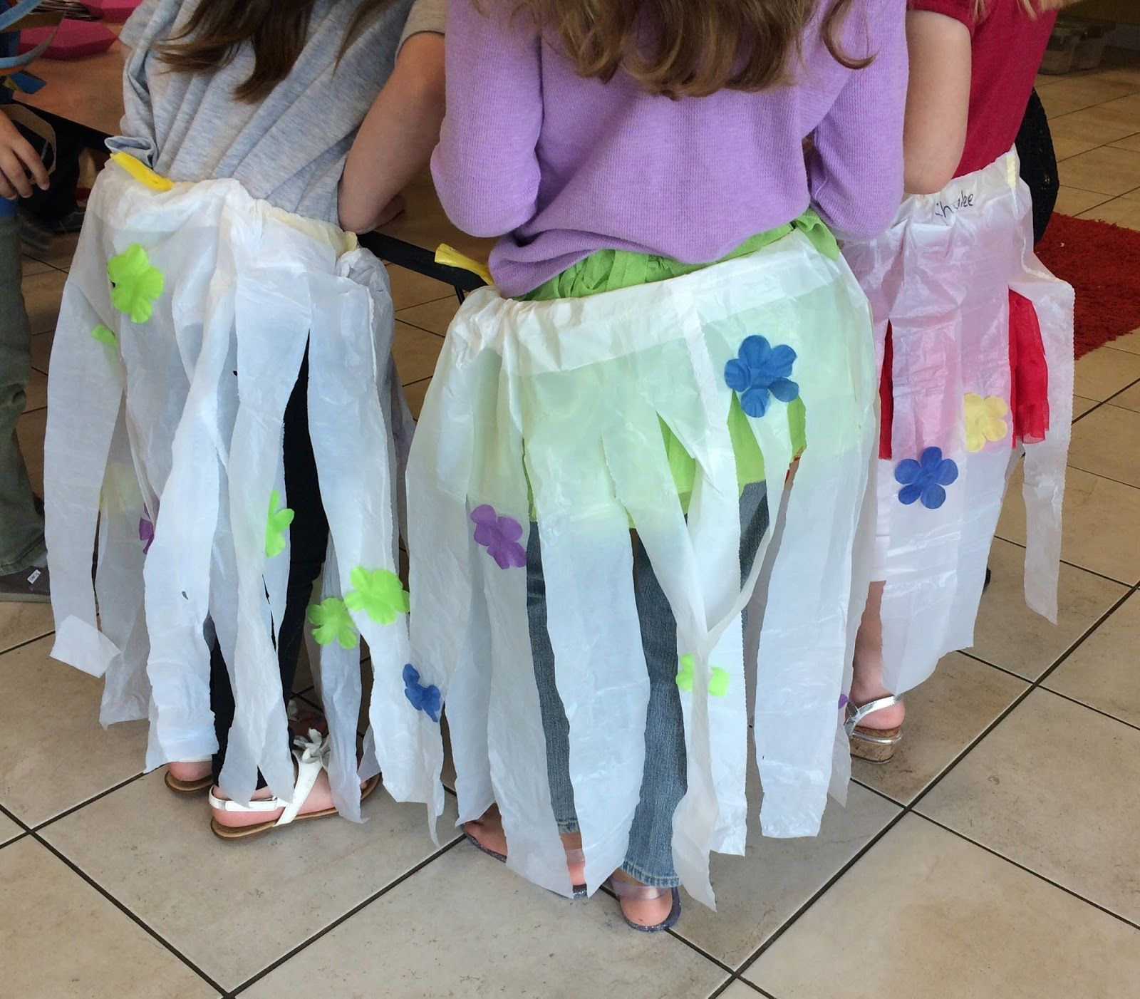 Time For Play Garbage Bag Hula Skirts