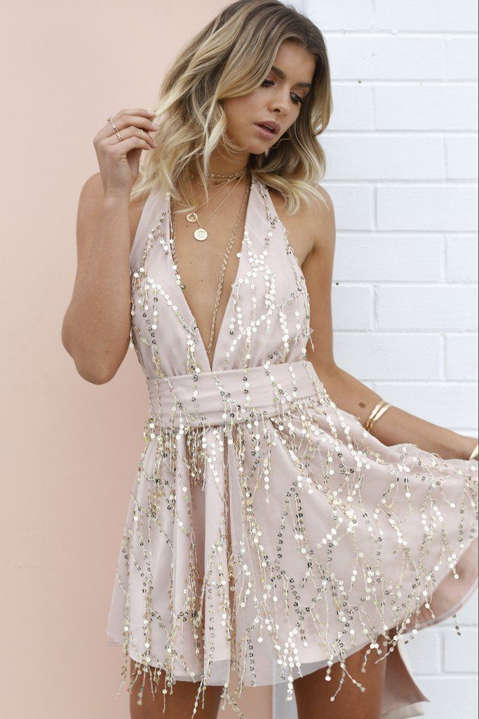 The Perfect Date Sequin Dress (Rose Gold) in 2019  dd78bded3d20
