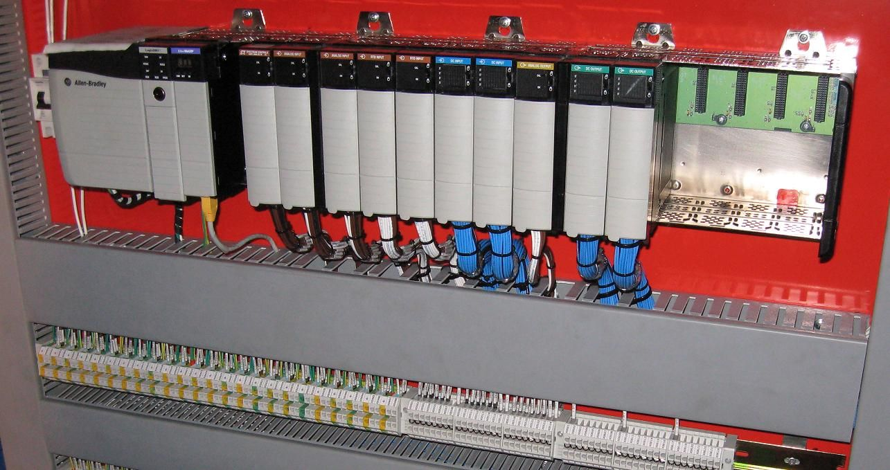 1  The image above is an Allen-Bradley PLC rack, a common example of