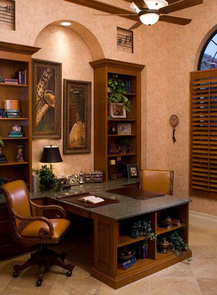 The Study has built-in shelves and a His/Her desk. Visit Sarasota