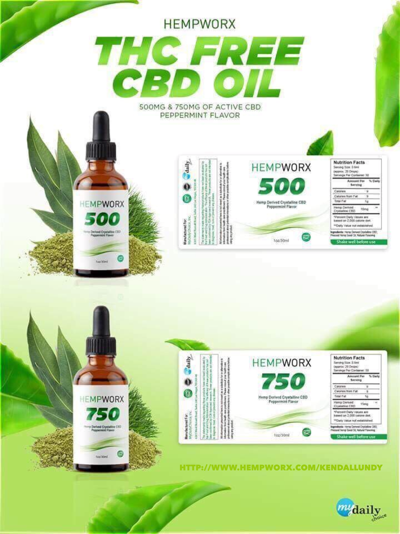 HempWorx just released two NEW products  THC FREE CBD OIL