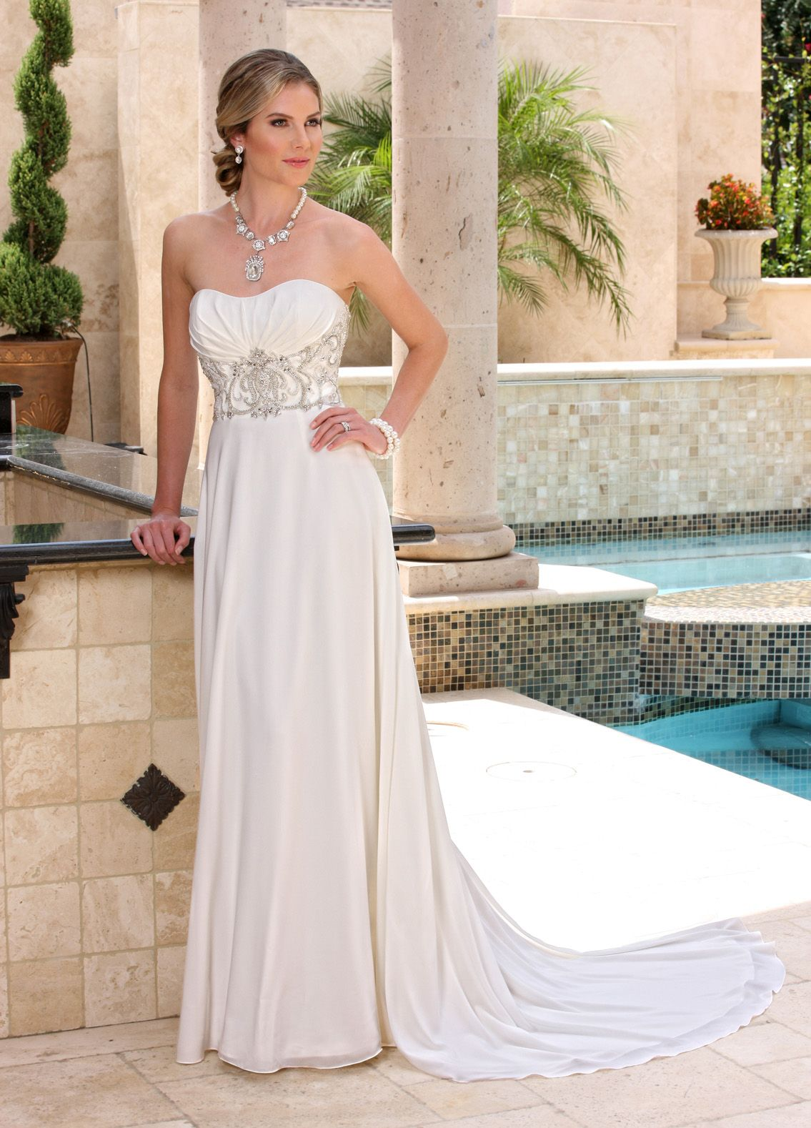 Image showing front view of style robe de mariee pinterest