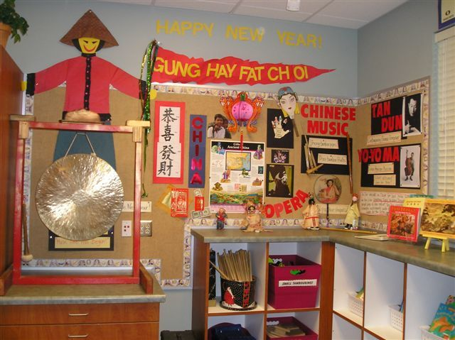 New Year bulletin boards... | Chinese new year crafts ...