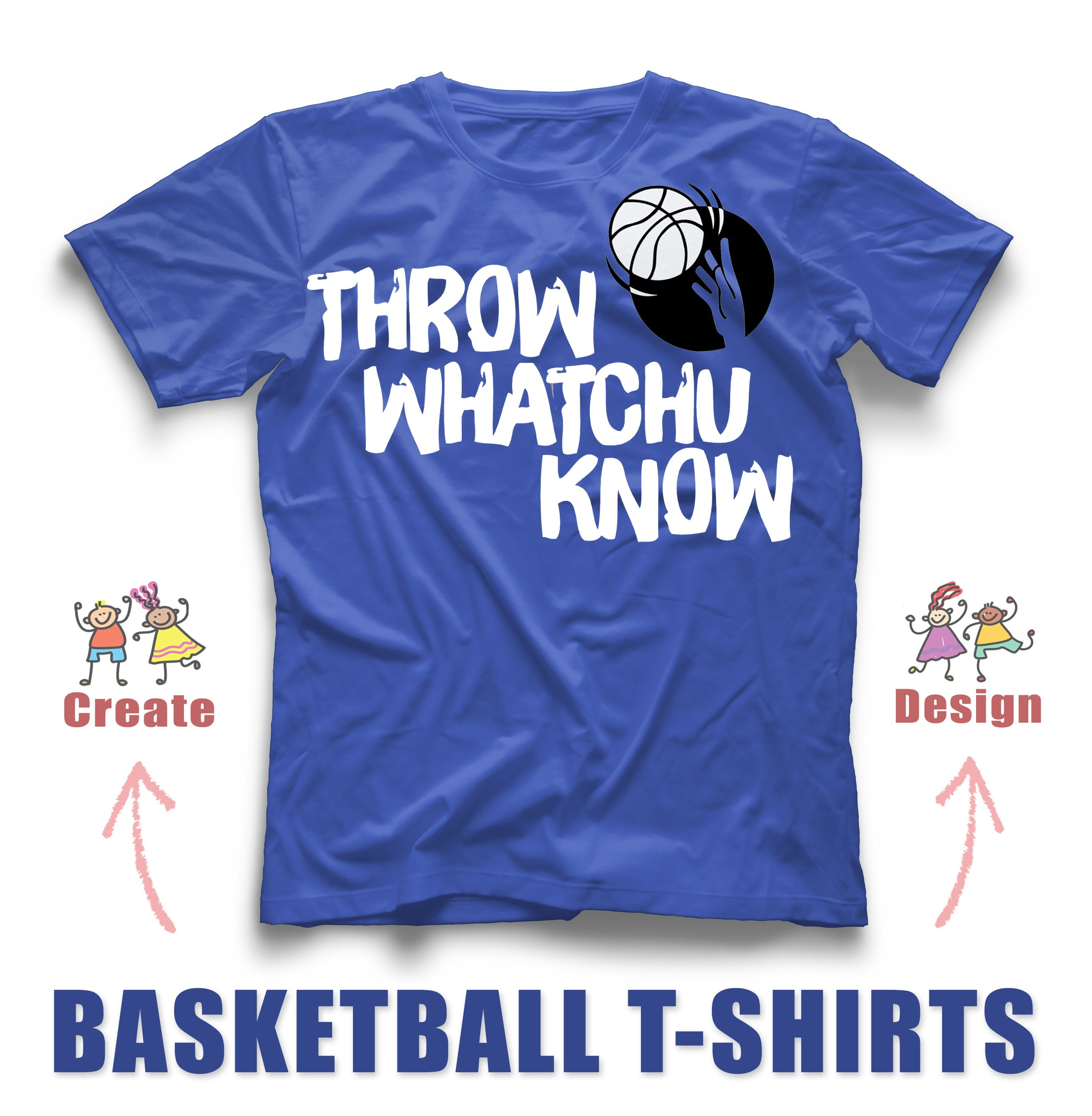 Basketball custom t-shirt design idea! Create and design yours with ...