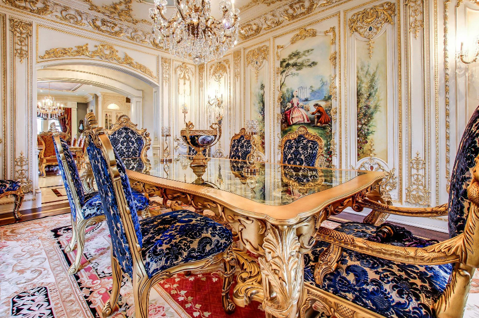 Lavish French Inspired Mansion In Ontario Canada Luxury Dining