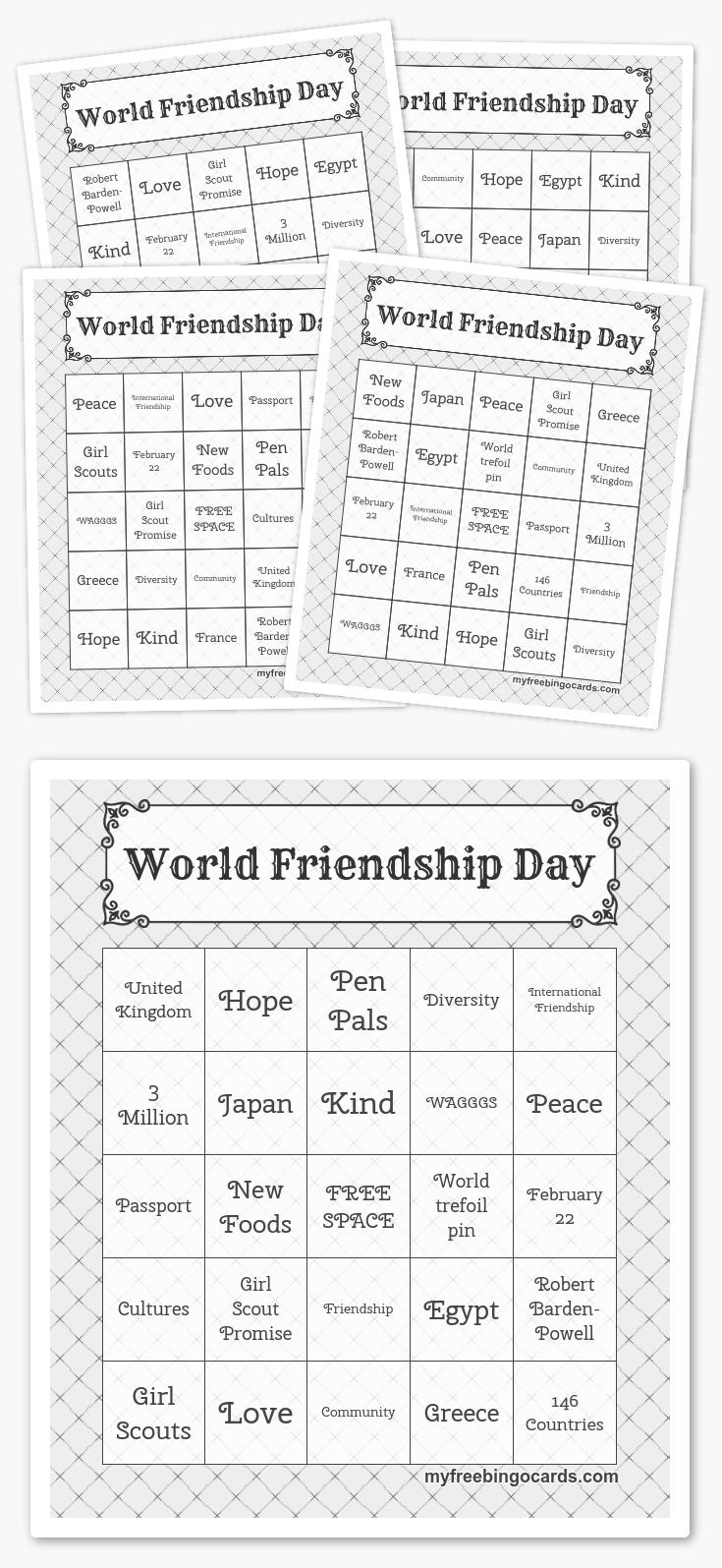 World Friendship Day Bingo Harry potter activities