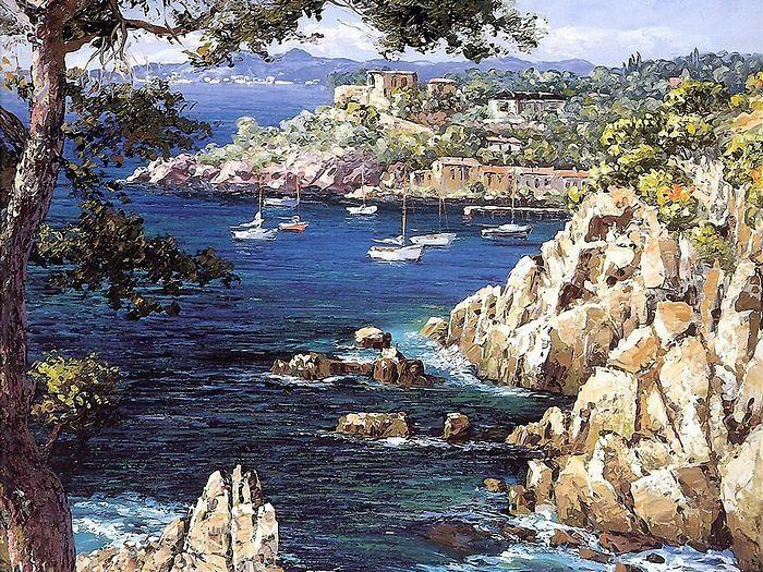 France -Saint Tropez   artist- Sung Sam Park