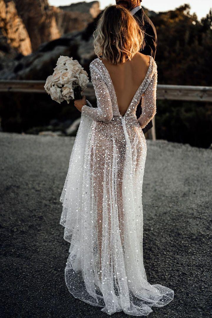 Elegantes Pure Color Warmbohr-Abendkleid für Damen