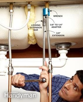 This faucet wrench removes stubborn faucet nuts quickly and easily