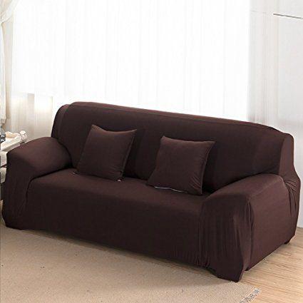 Sofa Cover 3 Seater Slipcover Stretch Elastic Fabric Sofa