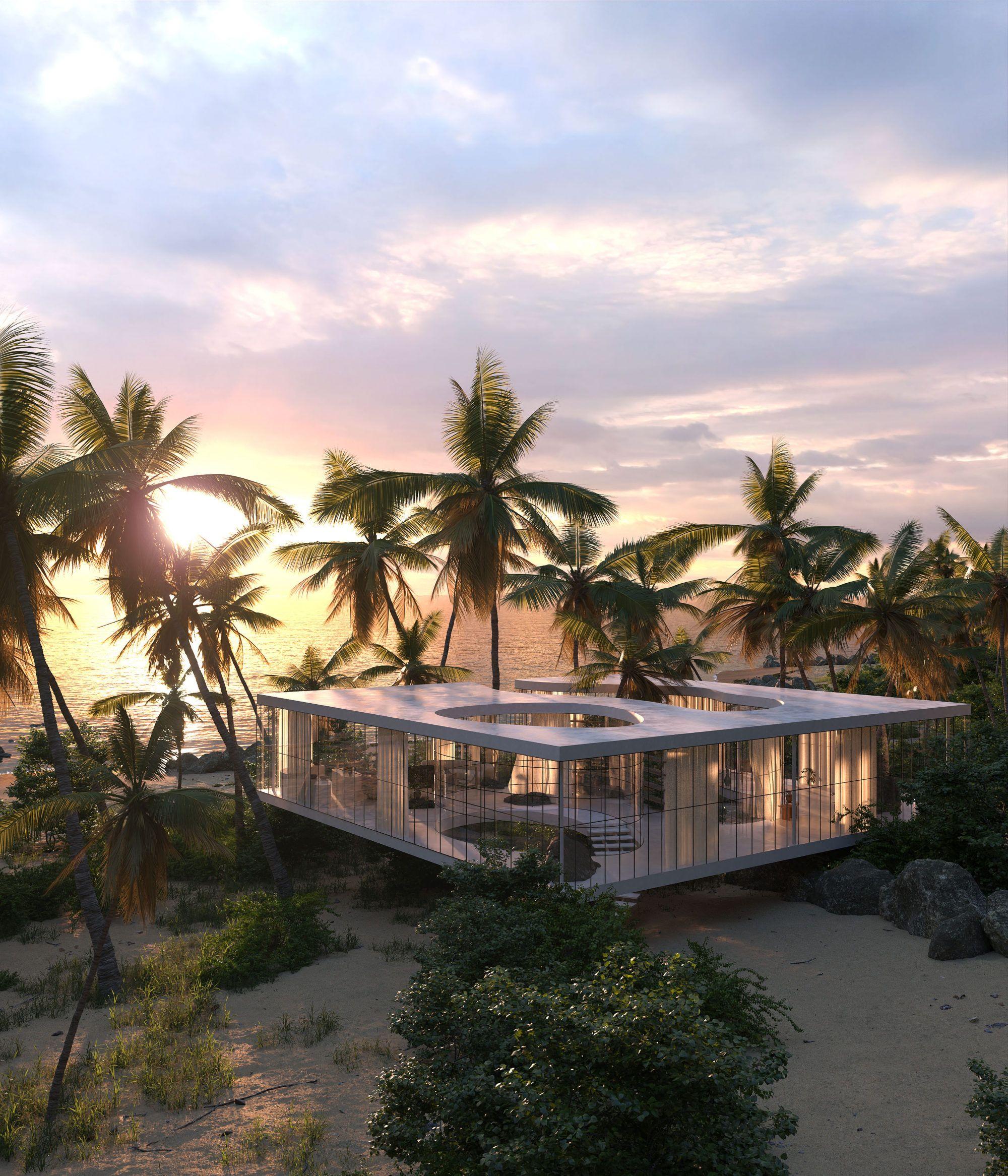 Une maison de verre design dans la nature brésilienne