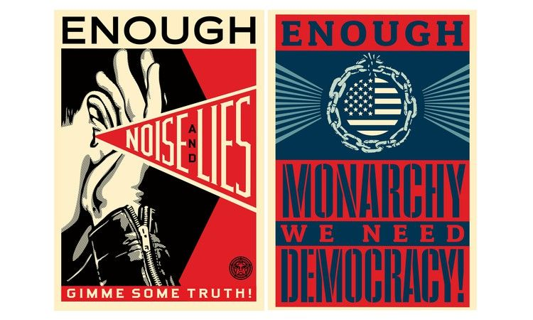 'Enough is enough': an urgent art campaign to help vote Trump out