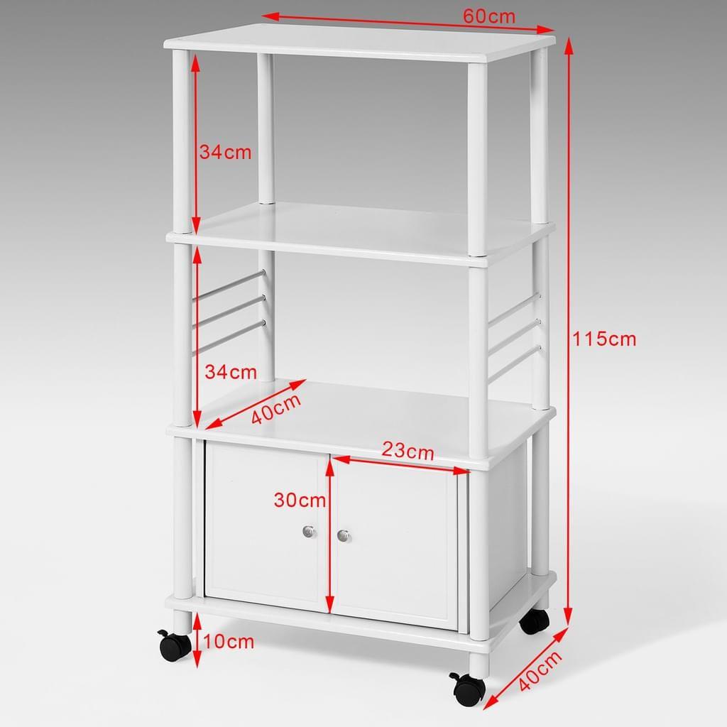 Küchenwagen im design sobuy küchenwagenmikrowellenhalter küchenschrankmit  ablagen und