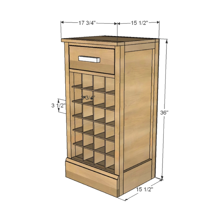 Free Base Cabinet Plans: Build A Mod Bar - Wine Grid Base