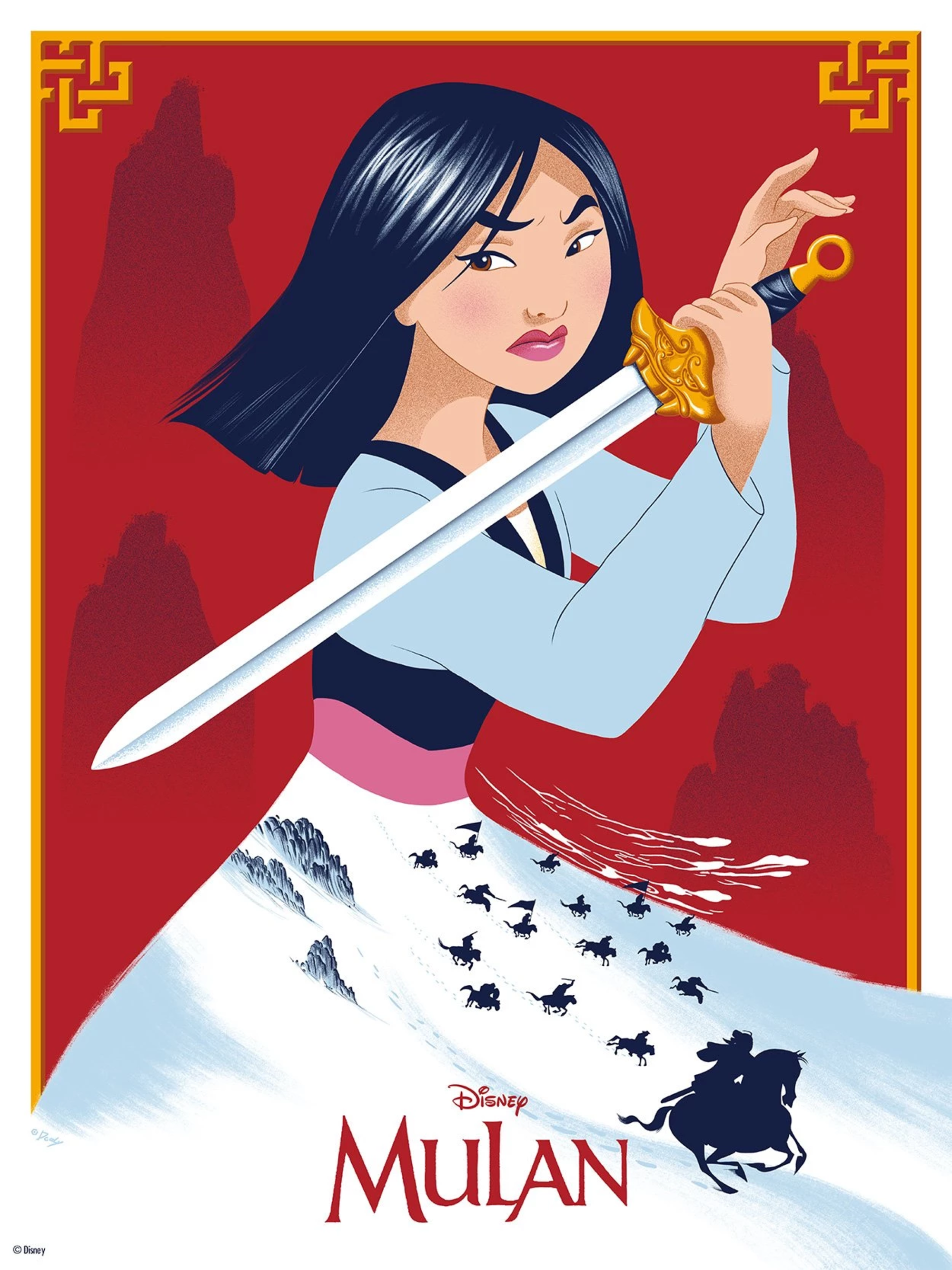 Mulan 1998 2000 2667 By Doaly Movie Prints Disney Art Disney Posters