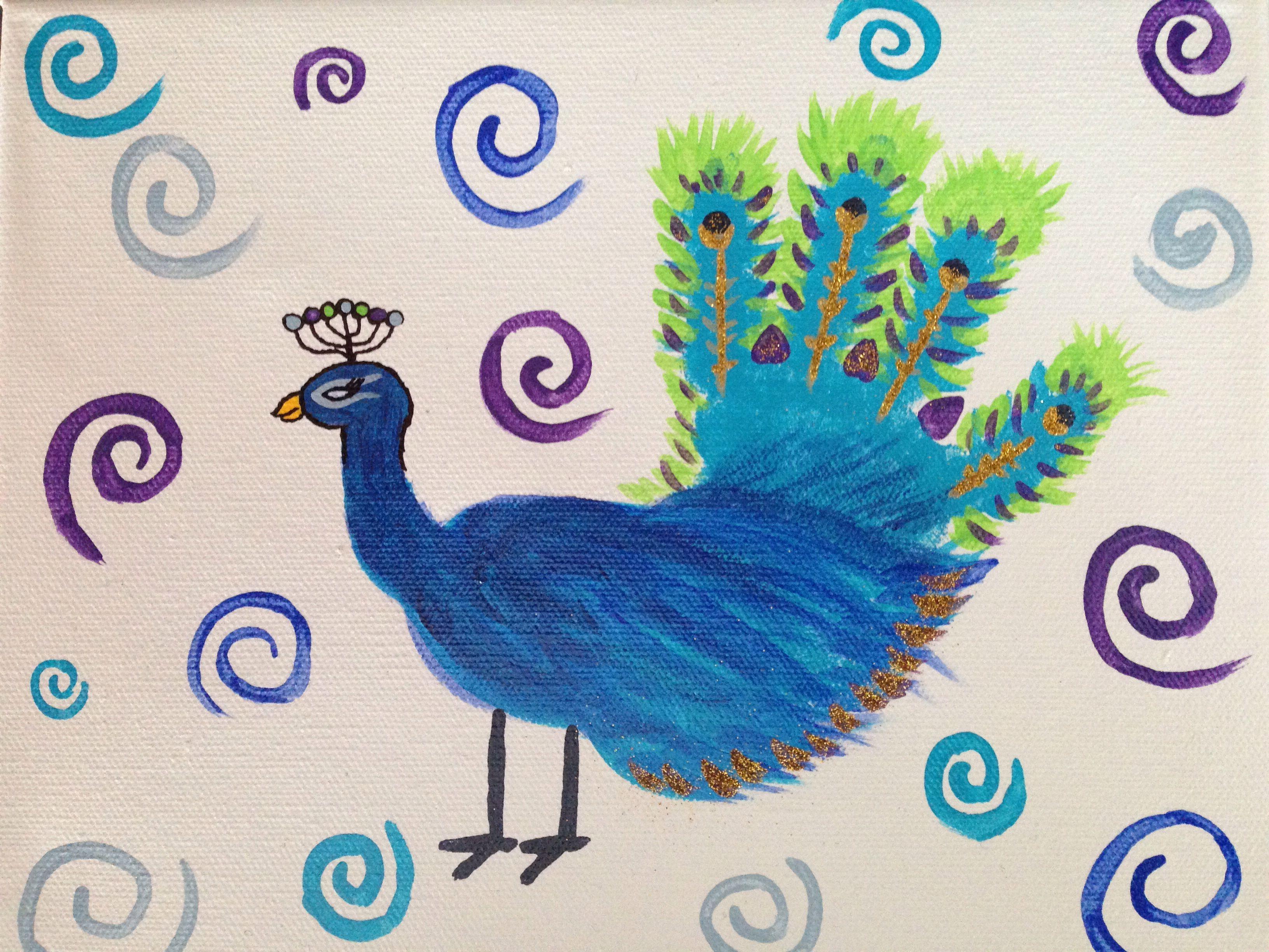 Peacock handprint craft | turkeys | Pinterest | Craft