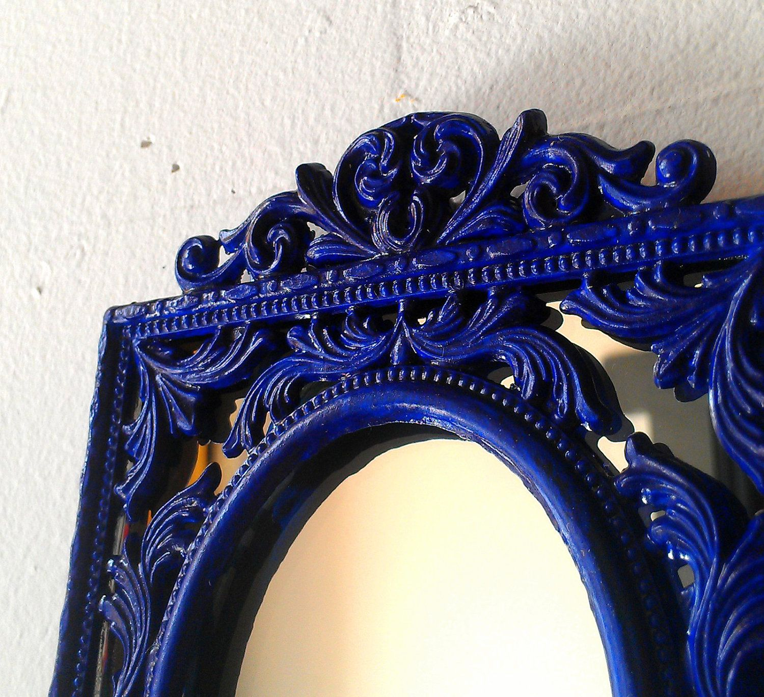 Decorative Wall Mirror In Cobalt Blue We Could Do Something Like This One Of Your Colors
