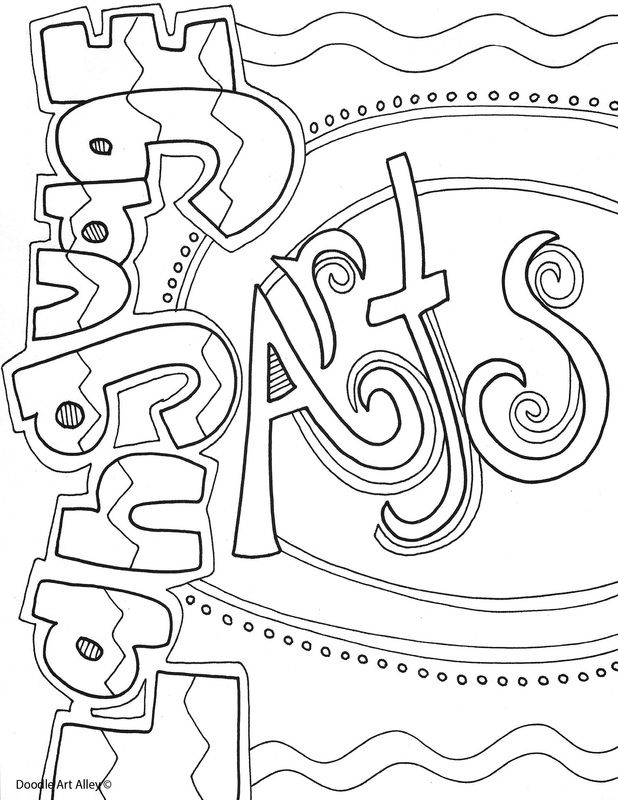 language arts coloring pages printable free | Notebook covers that are coloring pages - all subjects ...