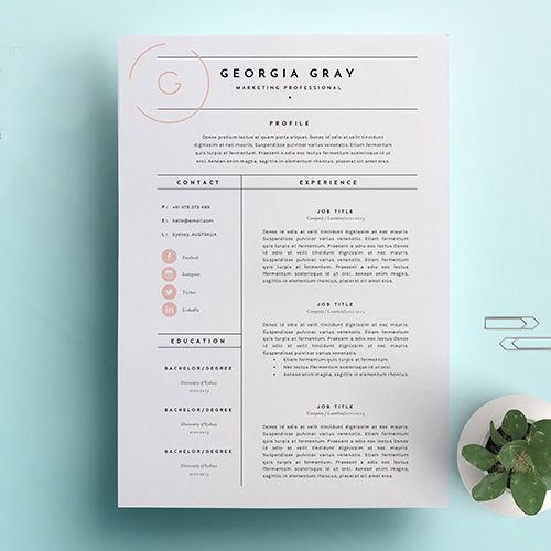 Behold, Stunning, Creative Resumes To Download For Every Personality - Resume design, Resume design creative, Resume design professional, Resume design template, Resume design free, Creative resume - Get noticed
